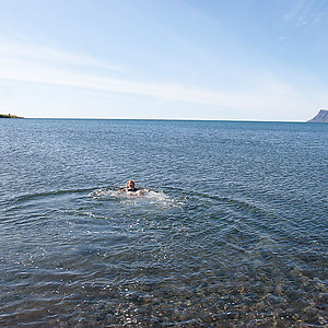 Ocean bathing in Iceland