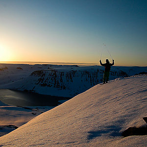 Mountain Skiing in Westfjord Iceland
