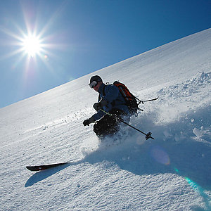 Adventerous skiing in Iceland
