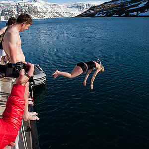Ocean Swimming in Westfjord Iceland