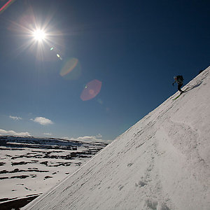 Ski from Mountain to Sea in Iceland