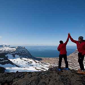 On the top of the world in Iceland