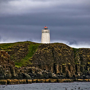 Lighthouse in Westfjord Iceland