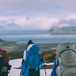 Backpacking hiking trip in Iceland