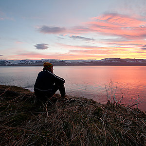 The quiet private life in isolated Westfjords in Iceland