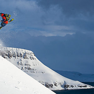 Skiing in Westfjords Iceland
