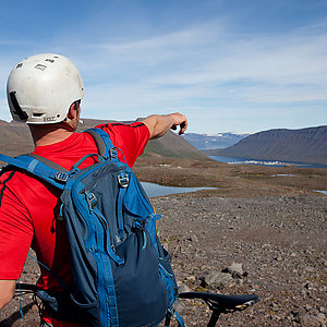 Guided mountain biking trip in Iceland