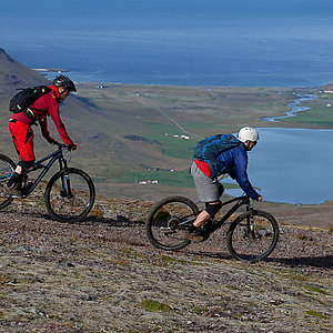 Westfjords in Iceland on mountain bikes