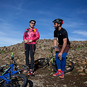 Guiding trip on mountain bikes in Iceland