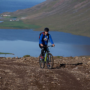 Cycling in Westfjords Iceland