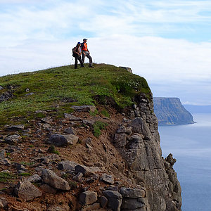 Hiking in Westfjords Iceland