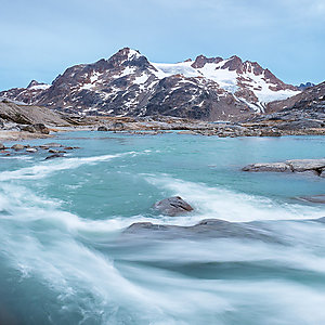 Powerful river in East Greenland