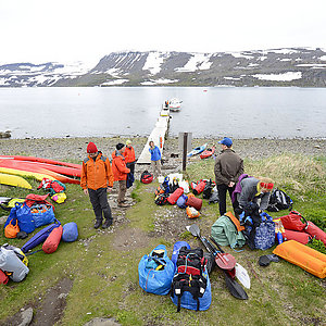 Kayaking trip in Iceland