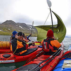 Kayak tour in Westfjords Iceland