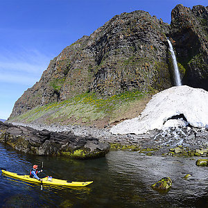 Kayak tour in Westfjords
