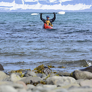 kayak adventure in Iceland