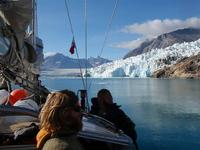 Sailing close to the Karale glacier